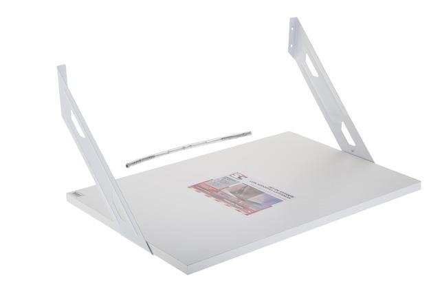 Soporte estante blanco para microondas jacofer - Soportes para microondas ...