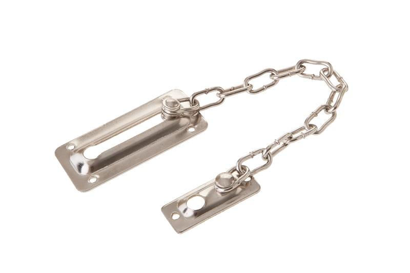 Traba puerta a cadena de hierro niquelado jacofer for Cadena de hierro